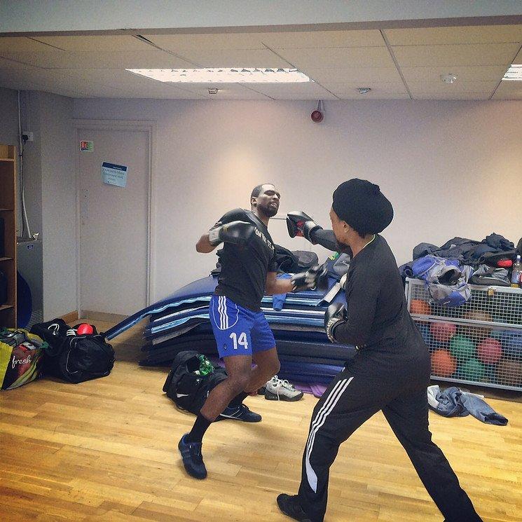 kickboxing pose