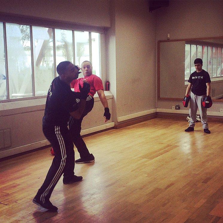 flight and kickboxing class