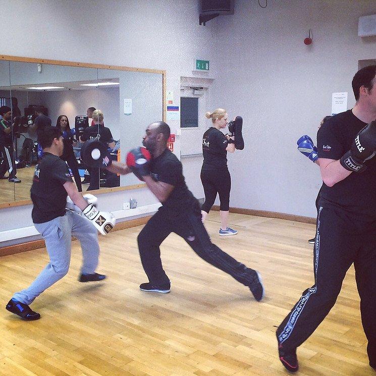 kickboxing lesson