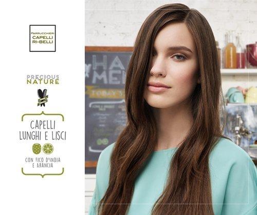 pubblicita` capelli lunghi e lisci a marchio CAPELLI RIBELLI PARRUCCHIERA