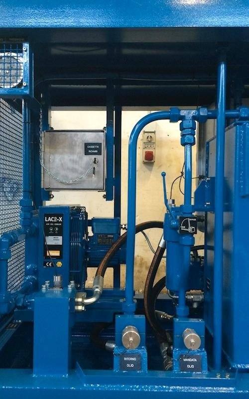 equipment for flushing hydraulic systems
