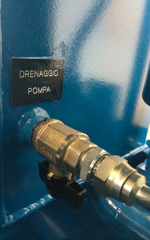 hydraulic power unit pump drainage