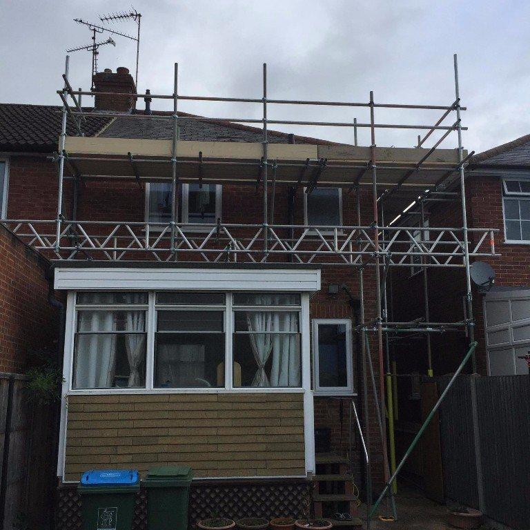 scaffolding a home