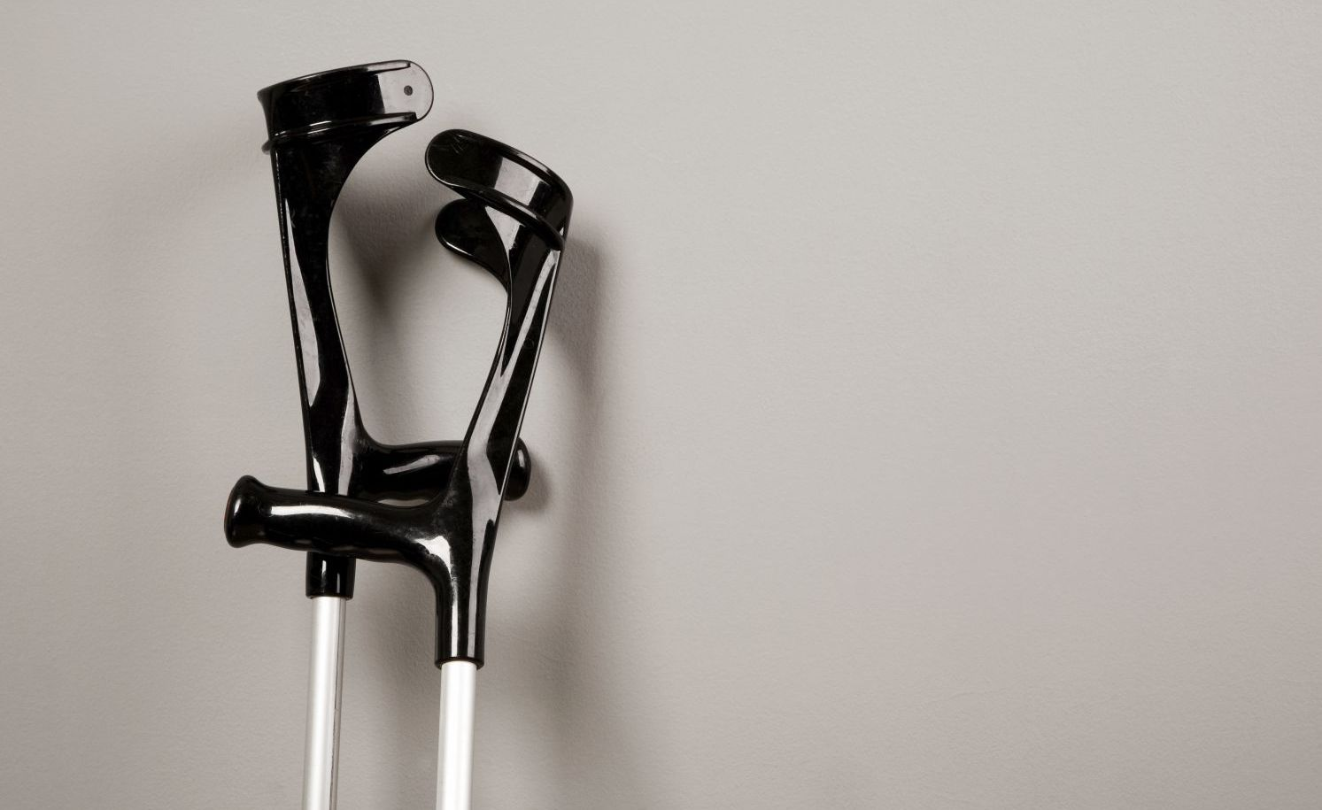 Crutches as symbol for personal injury law