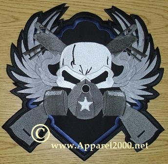 Skull and wings patch