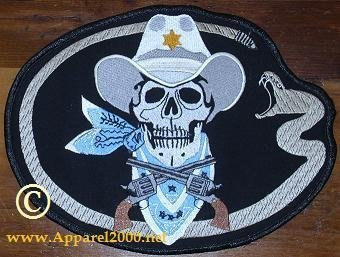 Skull and Pistols Patches