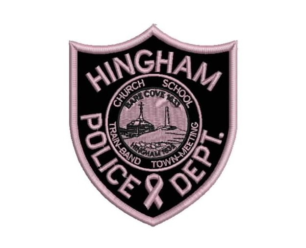 Cancer awareness police patches