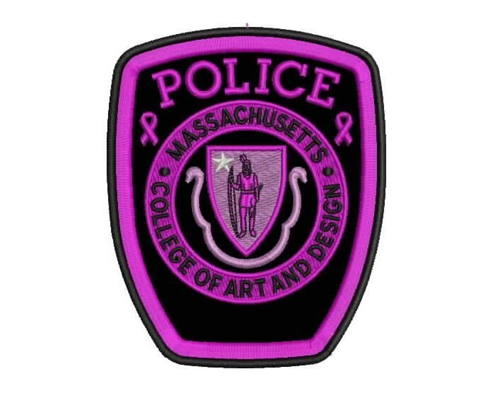 Lavender police patch cancer research