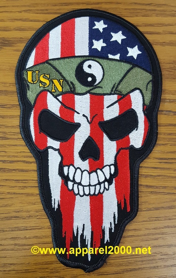 iron on custom skull patch