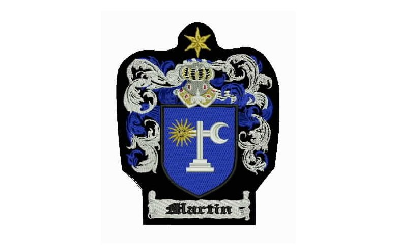 Martin family crest patch