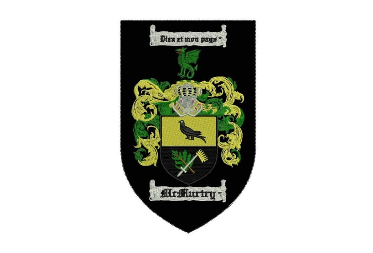 mcmurtry family crest patch