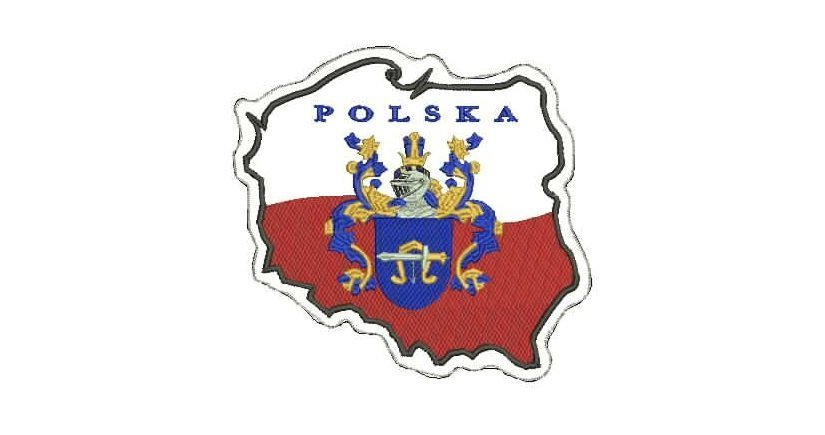 Polska family crest patch