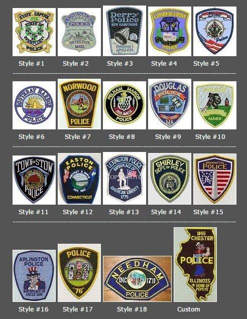 Police shoulder patch shapes