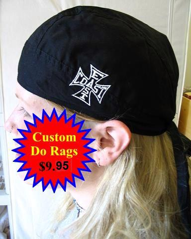 Doo rags for motorcycle clubs
