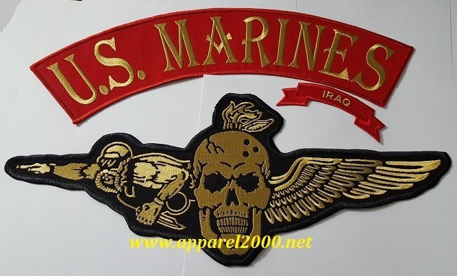U.S. Marines Veterans MC Patches