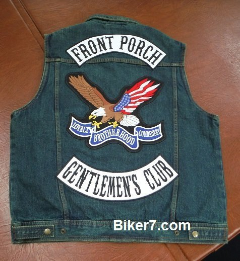 Biker vest patches