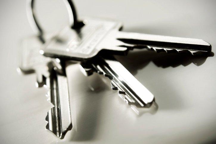 set of silver keys