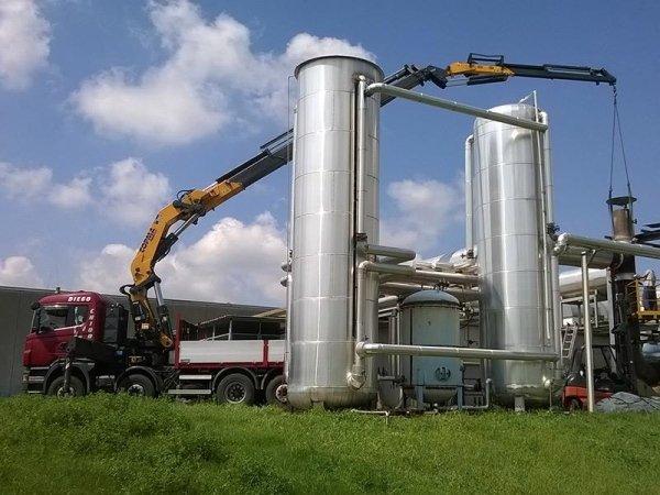 posizionamento in quota silos