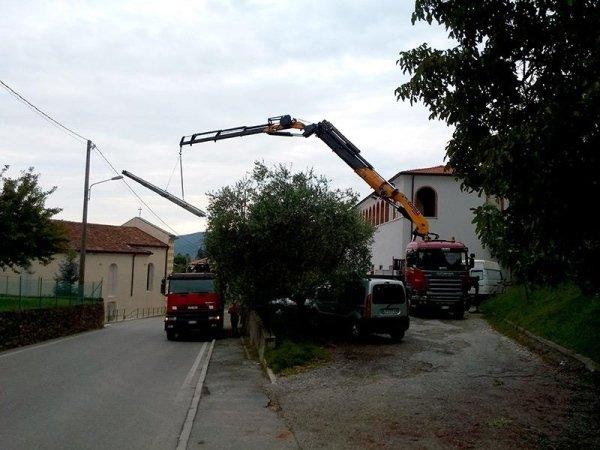 posizionamento in quota per lavori edili