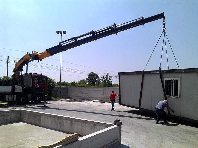 trasporto terra container