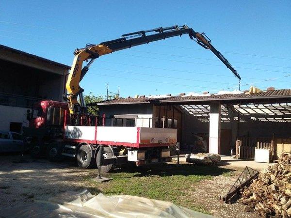 posizionamento in quota lavori ristrutturazione