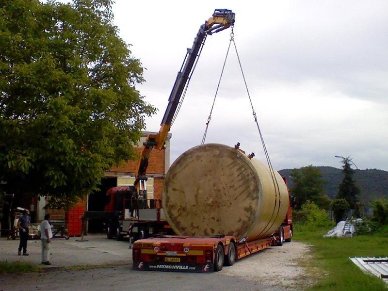 movimentazione e trasporto legnami di grandi dimensioni