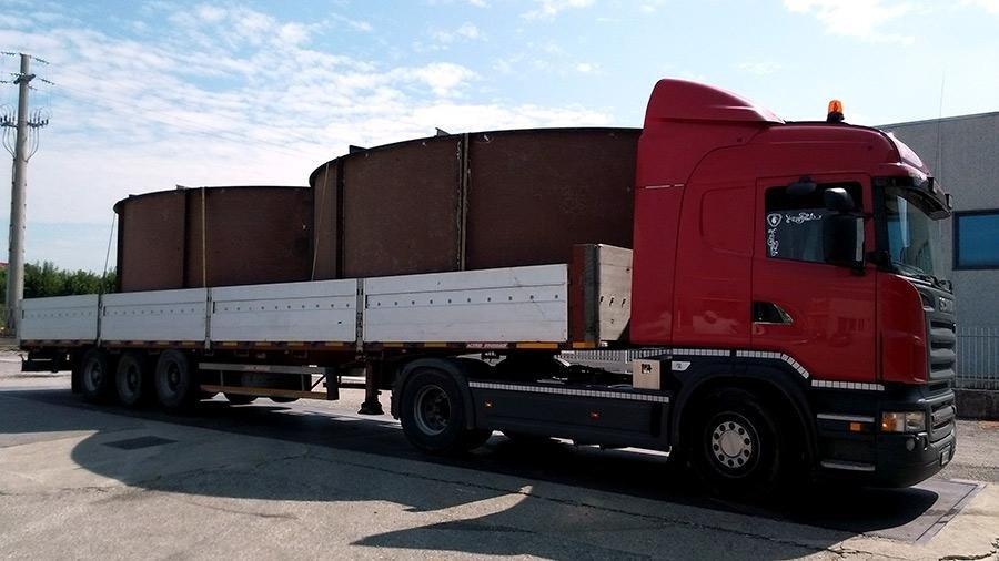 trasporto materiale meccanico