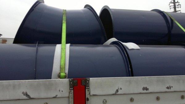 trasporto tubi in verniciatura e ritiro