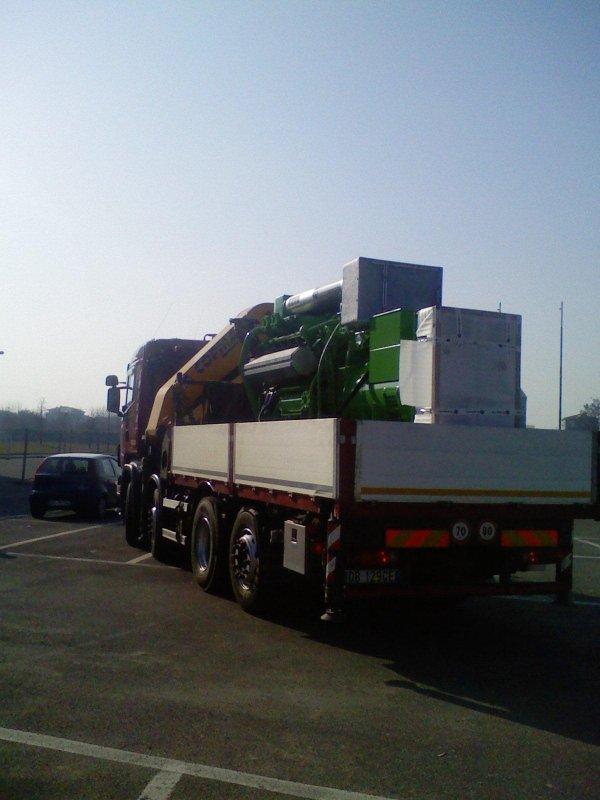 trasporto e scarico turbina