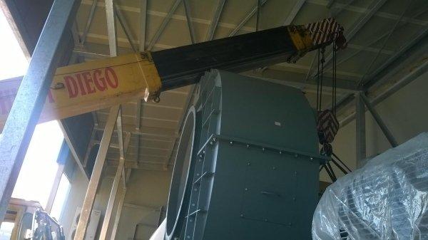 scarico e posizionamento ventilatori