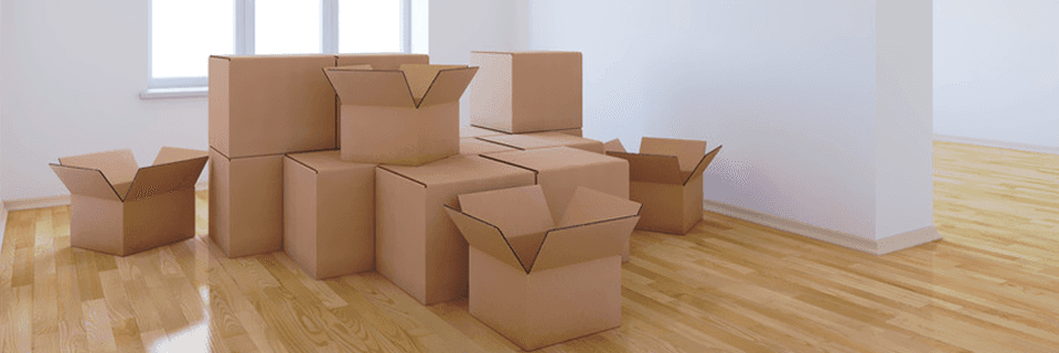 several opened carton boxes
