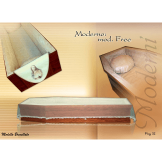 Imbottitura stampata per bara