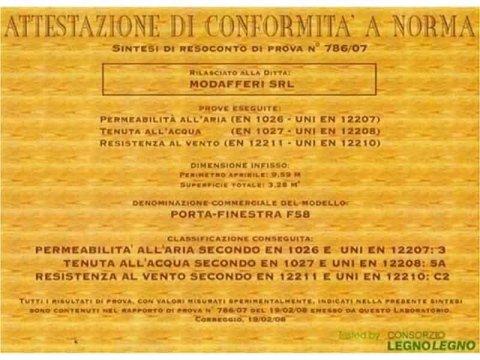 certificazione infissi in legno