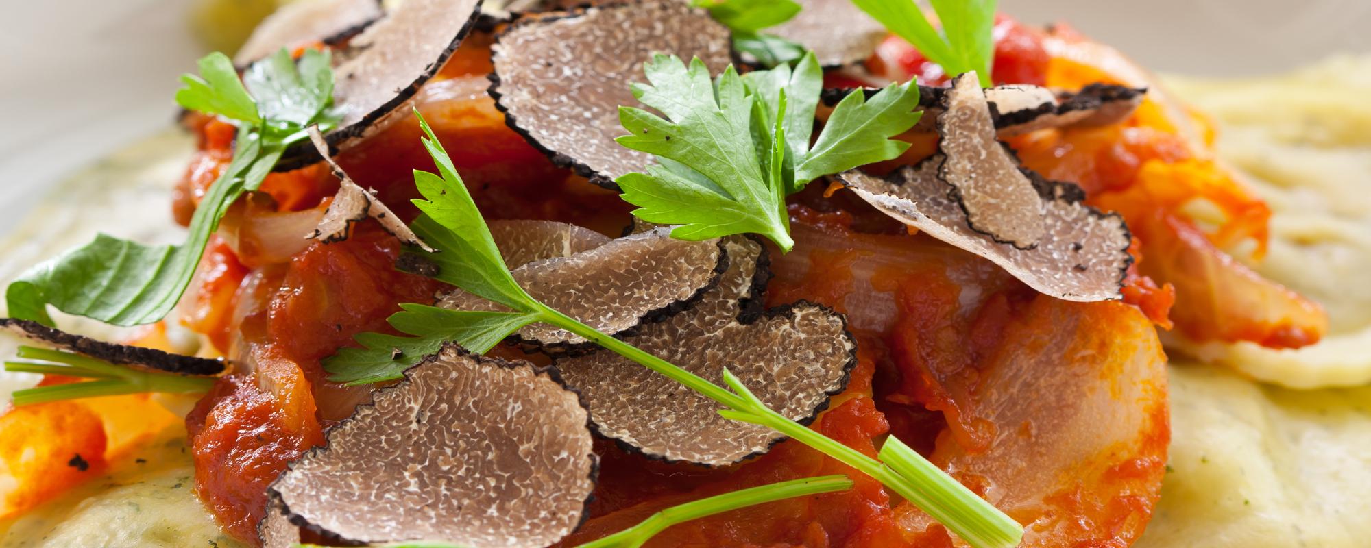 piatto con tartufo