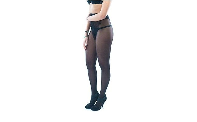 calze Nudo 40 Nero con posa laterale new look