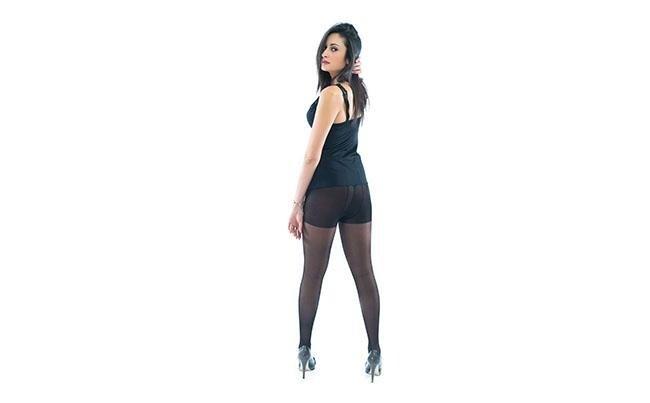 vista posteriore  calze 70 denari color Nero