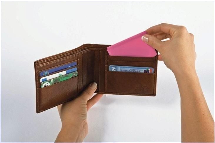 Stamp Card timbro tascabile piatto da portafoglio