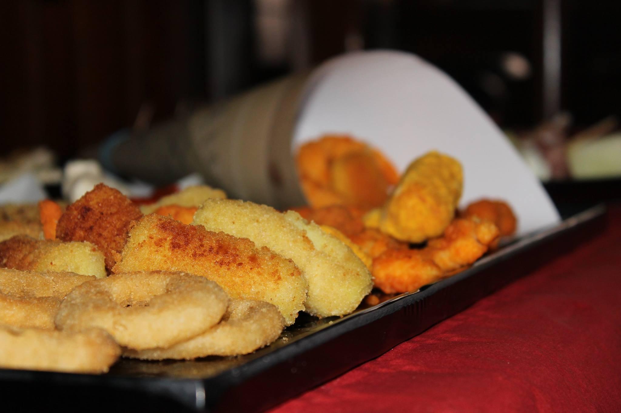 delle crocchette fritte