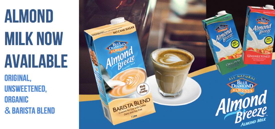Range of Almond milk by Blue Diamond