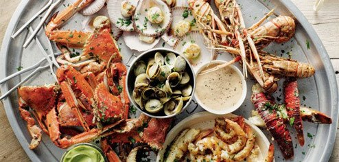 Range of seafood at the Hudson Pacific