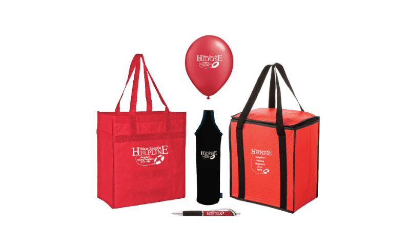 West Seattle Helpline Fundraiser Promotional Items
