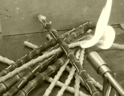 lavorazione bamboo fiamma
