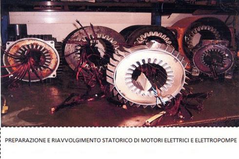 riavvolgimento statorico di motori