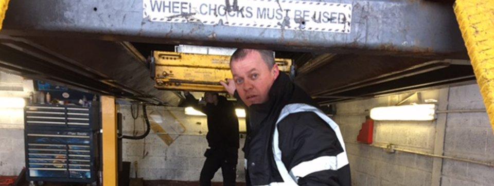 wheel chocks must be used