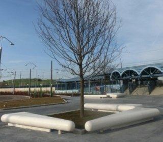 cemento, calcestruzzo, sedute, design, arredo urbano