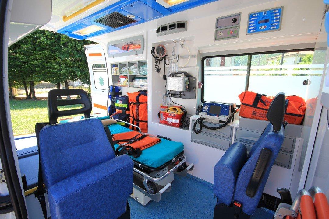interno dell'ambulanza