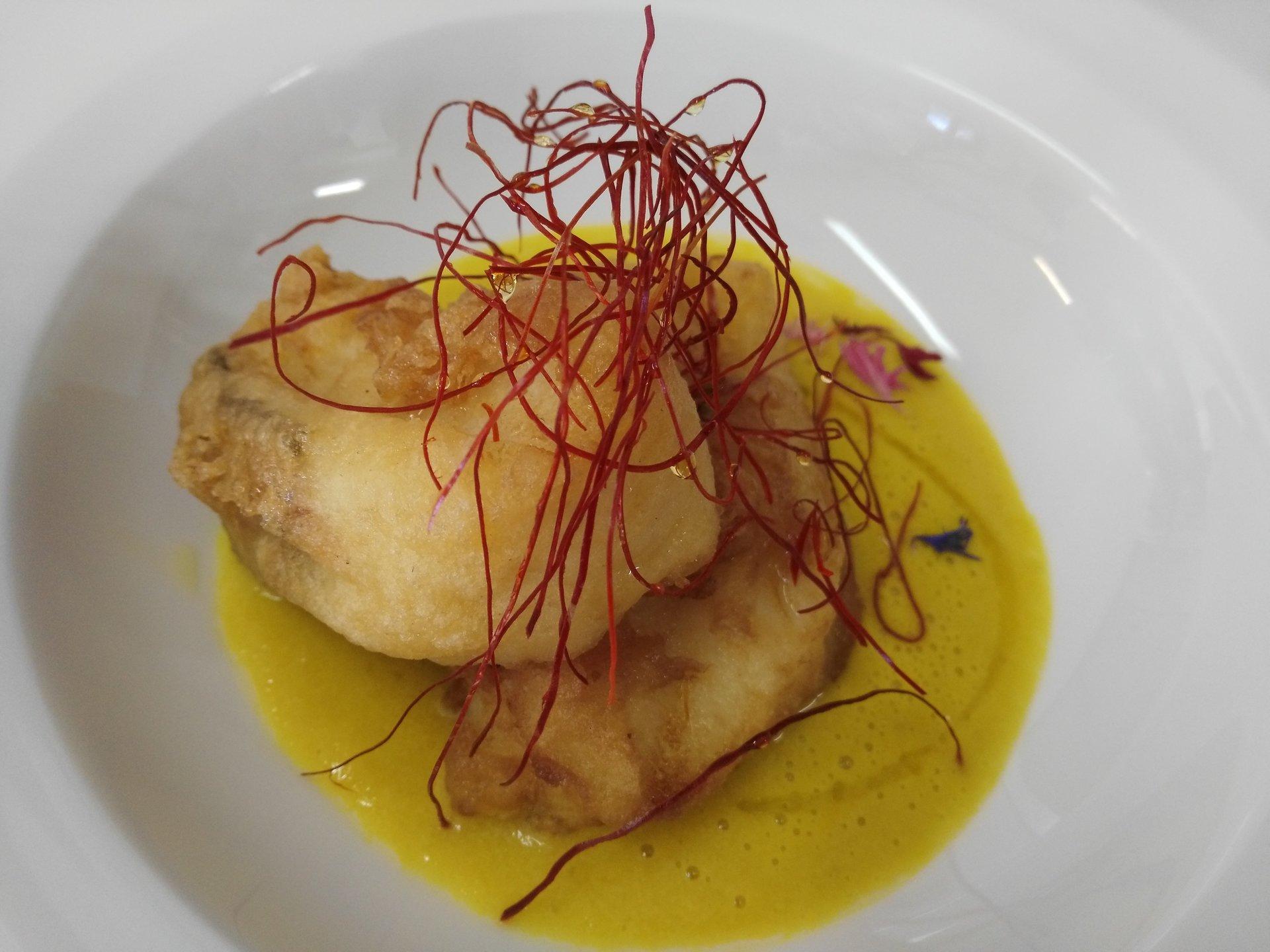 filetto di pesce allo zafferano