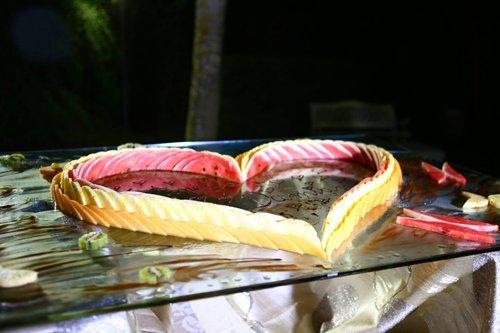 primo piatto a forma di cuore