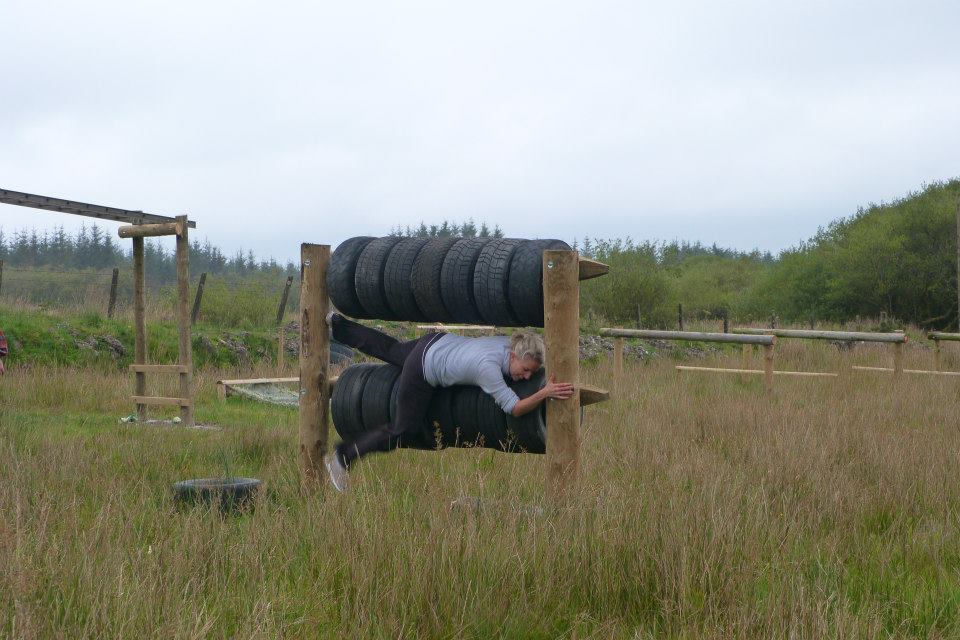 moving through the tyres