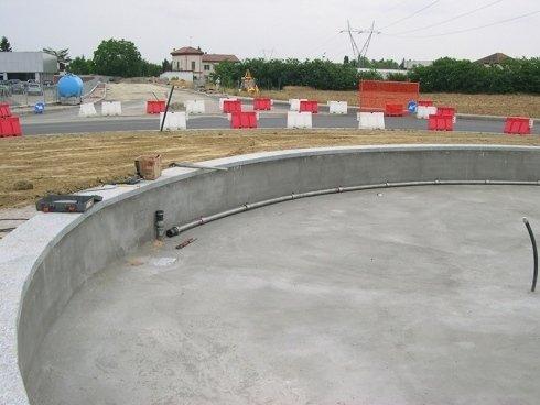 impianto di pompaggio fontana